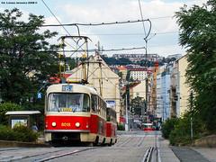 KD  Tatra T3M #8018 (ukasz Janowicz) Tags: tram praha praga czechrepublic dpp tatra tramvaj  czechy kd esko eskrepublika 8018 linie8 t3m strasenbahn lijn8 doppeltraktion republikaczeska linka8 linia8