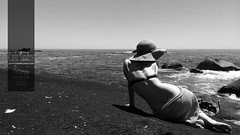 Relaxing (Carla Sanders Photography) Tags: sea blackandwhite beach girl lady relax fun view tan stunning