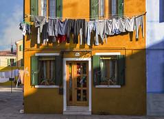 Bucato a Burano (Fil.ippo) Tags: venice colors clothes hanging venezia colori filippo burano laundryday bucato panni stesi d7000 filippobianchi