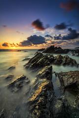 Pantai Tanjung Jara | Dungun (dimensionartpicture) Tags: nature sunrise landscape amazing sony sigma malaysia slowshutter dungun batuan balikkampung tanjungjara a6000 amazingmalaysia dimensionart