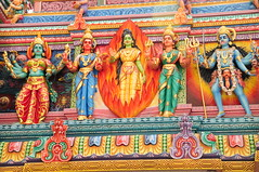 A Bevy of Colourful Goddesses. (john a d willis) Tags: temple singapore kali goddess littleindia hindu sriveermakaliamman