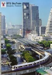 Thailand - Krung Thep - Bangkok Transit System (railasia) Tags: panorama station skyline thailand bangkok postcard infra 2012 bts emu4 chongnonsi silomline elevatedstructure routenº2