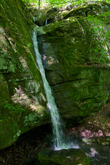 Cascade in the Ozarks (Eric Hunt.) Tags: green waterfall moss flowing cascade