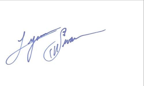 Autographed 3x5 Card - Lynn Swann