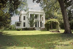 (SouthernHippie) Tags: greekrevival green grass empty history historic national register civilwar white mansion south southern sky outside old oldsouth outdoors blue rural urban usa alabama al americana house home trees sunny scenic day landscape plantation serene pretty sunshine