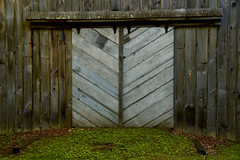 Cider Mill Doors (SunnyDazzled) Tags: millbrook newjersey delawarewatergap history wooden barn doors cider mill settlers 1800s rural village