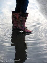 Rain Boots (mishimixer7) Tags: mishimixer7 photograph photo picture photographer photography old tbt rain reflection puddle reflect rainboots boots jeans mirror outside outdoors outdoor