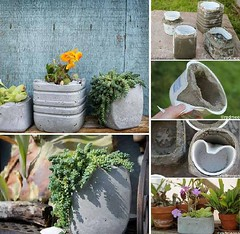 Diy: Concrete Planters (irecyclart) Tags: concrete diy planter pots