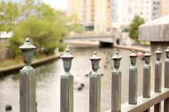Providence River - Providence, RI (Heather Burditt) Tags: providenceriver river providence rhodeisland ri bridge railings metal lines repetition