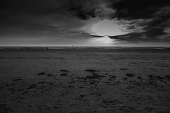 Walking into the sunset (tabulator_1) Tags: sunset blackwhite ainsdale southport