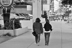 Toward Kenmore Square (AntyDiluvian) Tags: blackandwhite bw boston vintage 1971 couple massachusetts motel 1970s 1972 bu backbay commave bostonuniversity howardjohnson hojo commonwealthavenue kenmoresquare