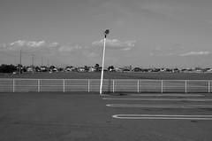 192/366 : A sunny day in rainy season (hidesax) Tags: leica light sky japan skyline clouds parking lot x pole fields saitama ricepaddy vario 365project 366project 192366 hidesax 366project2016 asunnydayinrainyseason