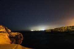 stars by the sea (Emily_Fletcher) Tags: cliff holiday beach beautiful night lights rocks nightime astrophotography nightsky menorca astrophotographers