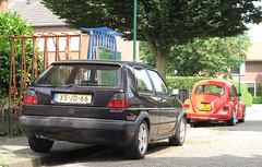 1991 Volkswagen Golf 1.8 Fire and Ice (rvandermaar) Tags: vw beetle bug kfer sidecode5 jljd47 vwkever volkswagenkever vwbeetle volkswagenbeetle vw1200 volkswagen1200 1974 volkswagen 1200 l kever 1991 golf 18 fire ice vwgolf volkswagengolf vwgolfii volkswagengolfii golfii fireandice xsjd66