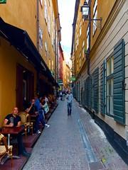 Trange kvartal i Gamla Stan (jonarnefoss2013) Tags: oldtown iphoneography iphoneonly iphone sverige sweden stockholm gamlastan