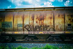 (o texano) Tags: houston texas graffiti trains freights bench benching phone wh kbt
