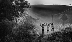 Jumping boys (Padmanabhan Rangarajan) Tags: araku valley vizag india rural tribals boys villagers