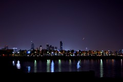 Crescent - هلال (أنس ماهر) Tags: الكويت هلال ليل kuwait crescent newmoon night lights colorful