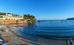 Panoramica S'Agaro (rossendgricasas) Tags: sea beach colors panoramic colorful costa brava girona sagar catalonia