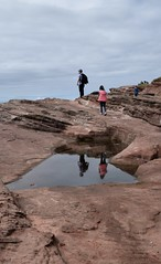 Reflecting on the day (LEALSWEE) Tags: mirrorimage reflection peninsula beach seaside wirral hilbreisland