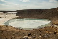 Krafla Viti Crater 19 (sarahmonious) Tags: kraflaviticrater kraftla viti myvatn kraftlavolcano volcanocrater crater hverir snow route1iceland route1 ringroad iceland iceland2016 icelanding2016 traveling