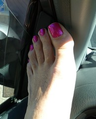 Great shot in car (toepaintguy) Tags: male guy men man masculine boy nail nails fingernail fingernails toenail toenails toe foot feet sandal sandals polish lacquer gloss glossy shine shiny sexy fun daring allure gorgeous glitter pure ice free fall pink shimmer incredible audacious