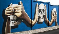 3 Sensations (davidfigueira) Tags: skull grafitty urban art portugal senses sensation opression street