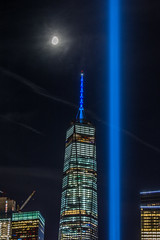 BSD_6151 (BrandonD95) Tags: 911 2016 world trade center wtc sunset moon lights skyline nyc new york city lightroom