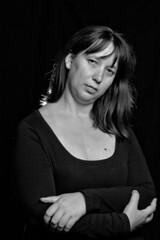 Saray Estudio 7 B&N (R.D. Gallardo) Tags: canon eos 600d retrato raw saray estudio woman belleza sexy bw blanco bn black negro white