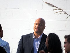 It's not everyday that Andre Carson is in the Grove! (kennethkonica) Tags: andrecarson uscongressmanandrecarson congress photoshoot politicalad politics people persons suit beechgroveindiana streetphotography street midwest usa america marioncounty indiana indianapolis indy canonpowershot canon global hoosier random candid white brick plant