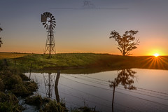sunset (dundox1) Tags: sunset outdoor water windmill tree