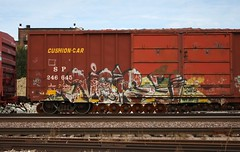 Noise (quiet-silence) Tags: graffiti graff freight fr8 train railroad railcar art noise fyc aub boxcar sp southernpacific sp246645