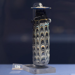 Glass paste alabastron from Cumae (diffendale) Tags: italy italia museum museo muse   archaeological archeologico artifact display exhibit arkeoloji mzesi ancient antico cuma cumae 4thcbce 2ndhalf4thcbce late4thcbce mid4thcbce pleiades:findspot=432808 kyme  tomb tomba grave burial human necropolis cemetery tombe tombeau spulture grab tumba sepultura