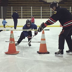 (Ryan Dickey) Tags: luke getdown hockeypractice robertcrownicearena drill