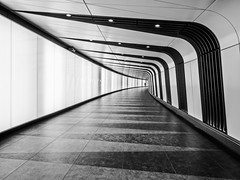 Tunnel (Andrew H-W) Tags: objectsstructures underground london 2016 structures object places wall stpancras uk andrewhaywardwills light tunnel installation kingscross