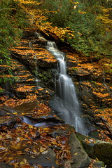 Soco Falls in Autumn (Tom Mortenson) Tags: waterfall northcarolina maggievalley swaincounty cascades water autumn fall beauty nature canon6d canon canoneos digital geotagged 24105l longexposure flowingwater blueridgeparkway waterfalls landscape serene soco outdoor mountains cherokeeindianreservation creek pisgah parkway westernnorthcarolina qualiaboundary usa america northamerica south colorful nationalforest hdr tonemapping photomatix