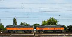 AWT 753 705 + AWT 753 707 (boti_marton) Tags: awt 753 class753 bvr skoda diesel lokomotive doppeltraktion train transport trainstation city cityscape budapest hungary magyarorszg europa panasonic dmc lz20 lumix