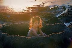 Reflecting Dusk (Artypixall) Tags: california sandiego oceanbeach toddler child younggirl beach pacificocean dusk