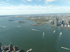 Aerial View, Hudson River, Jersey City, Lower Manhattan, Liberty State Park, Ellis Island, One World Observatory, New York City (lensepix) Tags: aerialview hudsonriver jerseycity lowermanhattan libertystatepark ellisisland oneworldobservatory newyorkcity