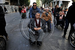 Disabled people protest in central Athens. Greece (aggelikikoronaiou) Tags: street city people urban sadness march riot downtown wheelchair rally protest demonstration disabled society crisis disabilities riotpolice crippled protestor demonstrator austerity occupy peoplewithdisabilities disabledpeople internationaldayofpersonswithdisabilities protestingreece occupywallstreet greekfinanceministry