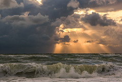 Nordsee Dänemark (b.stanni) Tags: sunset sea storm nature clouds landscape denmark wasser waves natur north wolken landschaft sonne dänemark wellen sturm