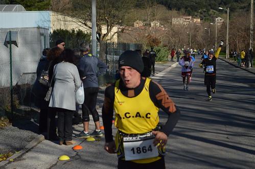 30ème édition de la course de Ladrecht, course pédestre entre Alès et les Salles du Gardon, départ du Stade Raphaël Pujazon d'Alès, et arrivée à la salle Louis Aragon aux Salles du Gardon
