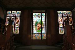 Stained glass windows in Lucerna Palace (Cinema) (Sokleine) Tags: architecture kino prague prag praha stainedglass secession artnouveau movies czechrepublic rpubliquetchque cinma jugendstil lucernakino