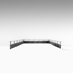 Terrace (Michael Diblicek) Tags: wood winter blackandwhite white mist snow black france photography grey photo terrace fineart gray vosges fineartphotography viewingplatform hohneck easternfrance canon550d