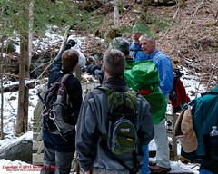 Tammy's 1st Snowman - Big Possum Creek Bridge - Possum Creek Gorge Section of the Cumberland Trail (mikerhicks) Tags: winter usa ice geotagged unitedstates hiking tennessee flattopmountain soddydaisy cumberlandtrail tennesseestateparks cumberlandtrailstatepark bigpossumcreek canon7dmkii sigma18250mmf3563dcmacrooshsm geo:lat=3535461833 geo:lon=8517282667 possumcreekgorgesection threegorgessegment bigpossumcreekbridge