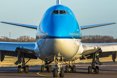 "KLM Boeing 747 taxiing to the Polderbaan • <a style=""font-size:0.8em;"" href=""http://www.flickr.com/photos/125767964@N08/16198266525/"" target=""_blank"">View on Flickr</a>"
