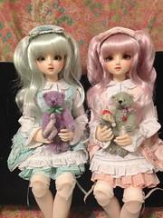 Twins - 16 March 2015 (shujinkakusama) Tags: may mint lolita mina teddybear bjd volks sdcute