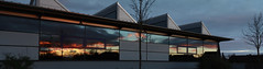 Panorama Reflection (Alias_Axel_Ryder) Tags: panorama sun reflection mirror sonnenuntergang spiegel gym turnhalle halle reflektion