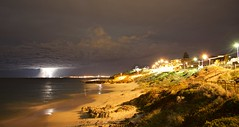 North Beach Lightning (kev hawker) Tags: sky night neon fireworks australia perth northbeach lightning sorrento storms thunder westernaustralia hillarys