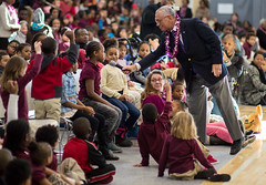 Administrator Bolden at Jefferson-Houston School (201502130004HQ) (NASA HQ PHOTO) Tags: usa alexandria stem nasa va jeffersonhoustonschool charlesbolden joelkowsky
